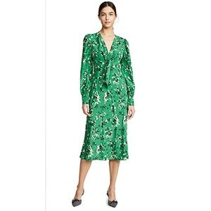 New Veronica Beard Amber Dress Green Floral Print